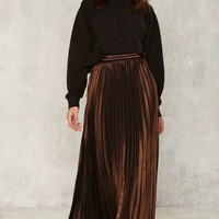 Element of Surprise Pleated Maxi Skirt