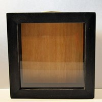 "Wooden Shadow Box Wine Cork/Bottle Cap Holder 6""x6"" - Blank No Saying"