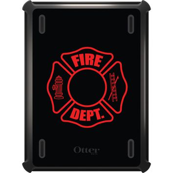 DistinctInk™ OtterBox Defender Series Case for Apple iPad - Red Fire Department