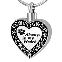 Always In My Heart Pet Cremation Pendant Necklace