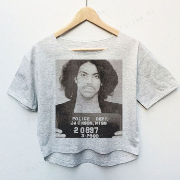 R.I.P Prince Roger Nelson Tees Crop Top Fashion T-shirt Woman