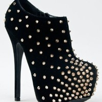 M11027B-293 Sexy Spike Platform High Heel Stiletto Ankle Boot Bootie