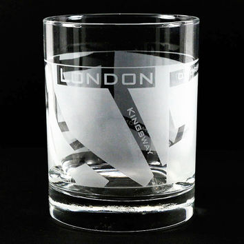 WellTraveled Set of 4 Tumblers - London