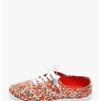 CORAL Walking On Flowers Floral Print Sneakers | $10.00 | Cheap Trendy Sneakers Chic Discount Fashio