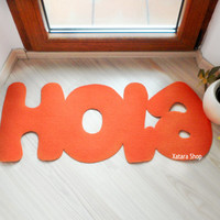 Hola door mat. Hello in Spanish. Floor mat for your entry