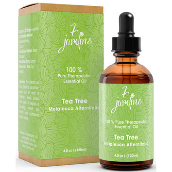 """7 Jardins Skin Ailment Therapeutic Essential Oil ★100% Pure Tea Tree """"Melaleuca Alternifolia"""" (120 ml) ★Becteria & Mold Killer ★Boosts Immunity & Clear your Mind ★Enriched with Plant Based Natural Ingredients"""