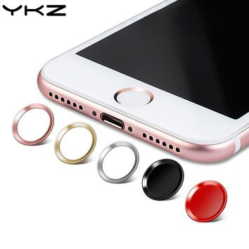 YKZ Universal Aluminum Touch ID Home Button for iPhone 5 5S 5C 6 6S 7 8 iPad Pro Fingerprint Touch key Protect Stickers R45