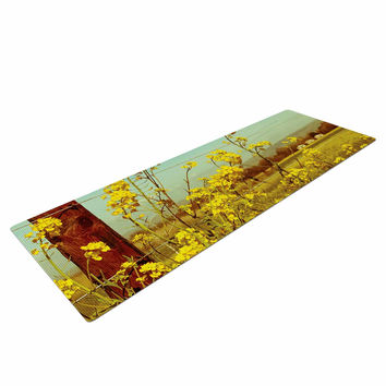 "Graphic Tabby ""Spring Breeze"" Yellow Photography Yoga Mat"