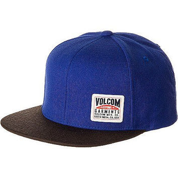Volcom Men's Garment Snapback Hat, Navy, One Size
