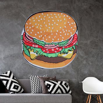 Bohemian Round Hippie Hamburger Tapestry/Throw/Table Cloth/Window Covering/Yoga Mat etc..... Round 150cm/59.0""