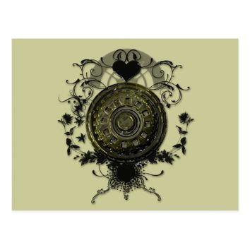 Steam punk Cog Design Postcard