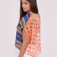 Catch and Release Caged Back Top by Lush @ FrockCandy.com