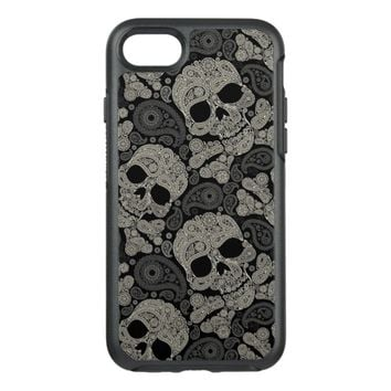 Sugar Skull Crossbones Pattern OtterBox Symmetry iPhone 7 Case