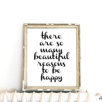 Inspirational Print, Wall Decor, Typography Wall Art, Motivational Print, Inspirational Poster, Teen Gift Ideas, Shabby Chic, Home Decor