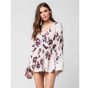 Free People Tuscan Dreams Tunic Dress - Ivory - MSRP: $108.00