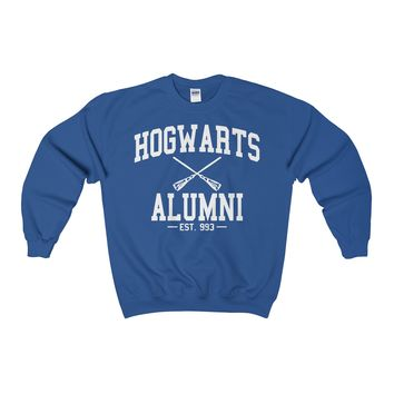 Hogwarts Alumni Harry Potter wwohp Adult Crewneck Sweatshirt
