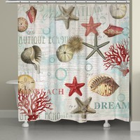 Dream Beach Shells Shower Curtain