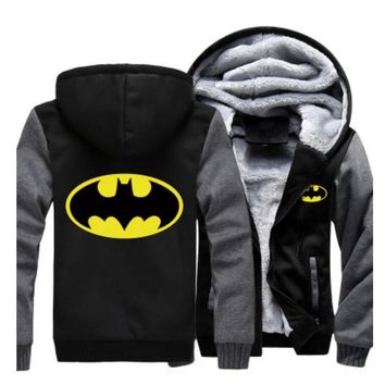 Batman Dark Knight gift Christmas US size for Hoodies Men Women Batman Zipper Jacket Sweatshirts Thicken Hoodie Coat Clothing Casual AT_71_6