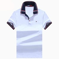 Tommy Hilfiger  Men Fashion Casual Letter Shirt Top Tee