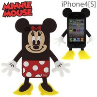 Strapya World : Disney Minnie Mouse Die-Cut Silicone Cover for iPhone 4S/4