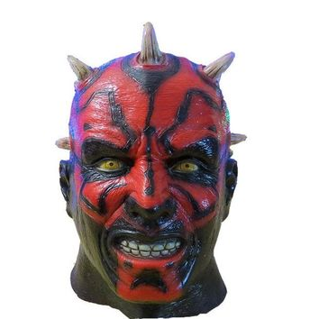 DCK9M2 X-MERRY  Darth Maul mask  costume of party horror latex full head mask halloween  mask