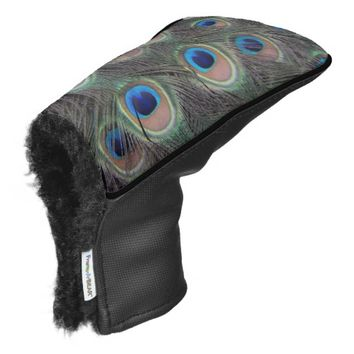 Peacock Feather Pattern Golf Head Cover