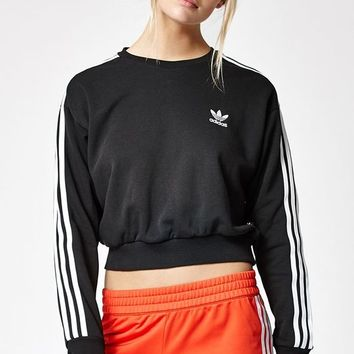 adidas 3-Stripes Cropped Sweatshirt at PacSun.com