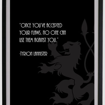 Game of thrones quote by Tyrion Lannister wall art in black
