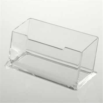 Clear Desk Shelf Box storage  Display Stand Acrylic Plastic transparent Desktop Business Card Holder  Drop Shipping