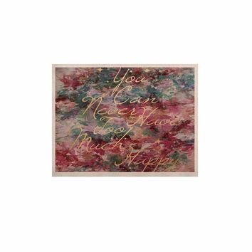 """Ebi Emporium """"Too Much Happy 1"""" Red Teal Painting KESS Naturals Canvas (Frame not Included)"""