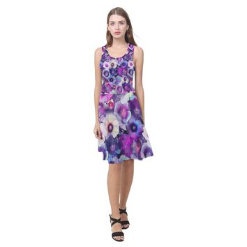 Floral Pattren In Multicolor Summer Beach Dress