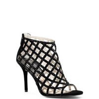 Yvonne Crystal and Suede Cage Pump | Michael Kors