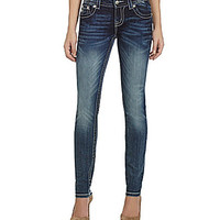 Miss Me Relaxed-Fit Skinny Jeans - Medium Blue