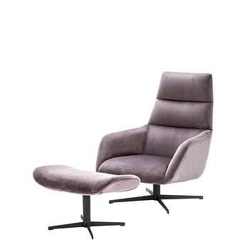Purple Accent Chair & Ottoman | Eichholtz Nautilus
