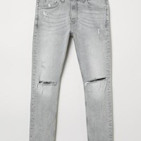 Cropped Super Skinny Jeans - Light gray - Men | H&M US