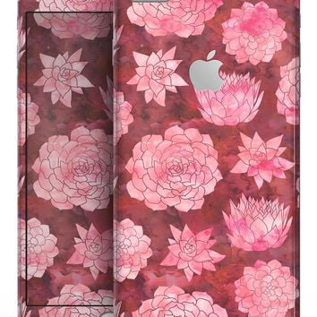 Red Floral Succulents - Skin-kit for the iPhone 8 or 8 Plus