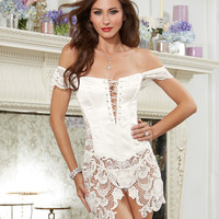 Ravishing Beyonce Satin and Venetian Lace Corset