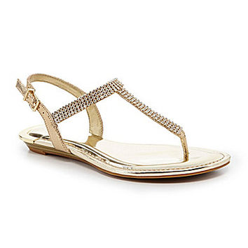 Gianni Bini Emmie Jeweled Flat Sandals