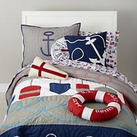 Boys Bedding: Nautical Buoy Bedding Set in Boy Bedding | The Land of Nod