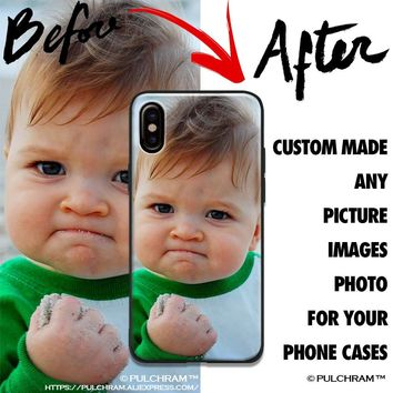 Custom made diy Photo image picture Soft Silicone Phone Case Cover Shell For Apple iPhone 5 5s SE 6 6s 7 8 Plus X XR XS MAX