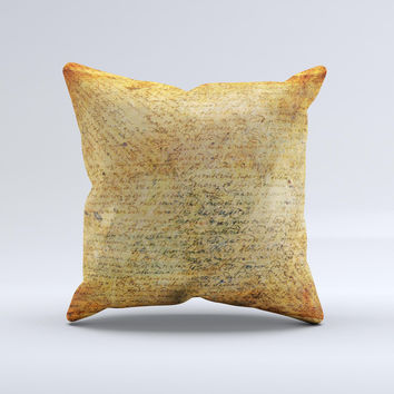 History Word Overlay V2 Ink-Fuzed Decorative Throw Pillow