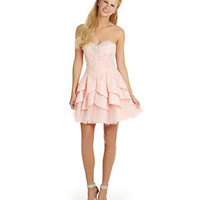 Masquerade Strapless Tiered Party Dress 					 					 				 			 | Dillard's Mobile