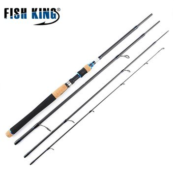 FISH KING Carbon Soft Spinning Lure Fishing Rod Lure Weight 15-40g  2.1M-2.7M 4 Section For Lure Fishing