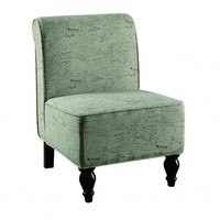 Vintage French Fabric Traditional Accent Chair