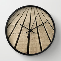 wood path Wall Clock by Indiepeek | Marta