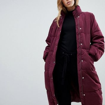 Vila Longline Padded Jacket at asos.com