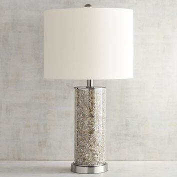 Gray Quartz Table Lamp
