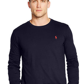 Polo Ralph Lauren Long-Sleeved Jersey Crewneck Shirt - Belk.com