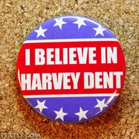 Batman Harvey Dent Political Support Pinback Button or by mikarts