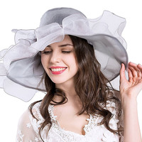 Sun Hat Organza Church Derby Cocktail Wedding Hat